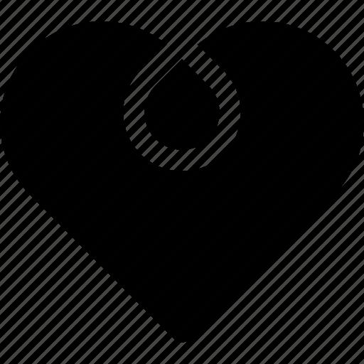 circle, favorite, heart, love, ornament, passion icon