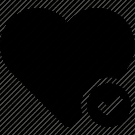 confirm, done, favorite, heart, love, passion icon