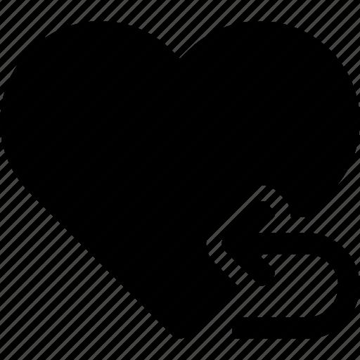 favorite, heart, love, passion, repeat, return icon