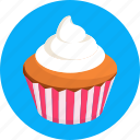 bread, cake, candy, cupcake, food, frosting, sweets icon