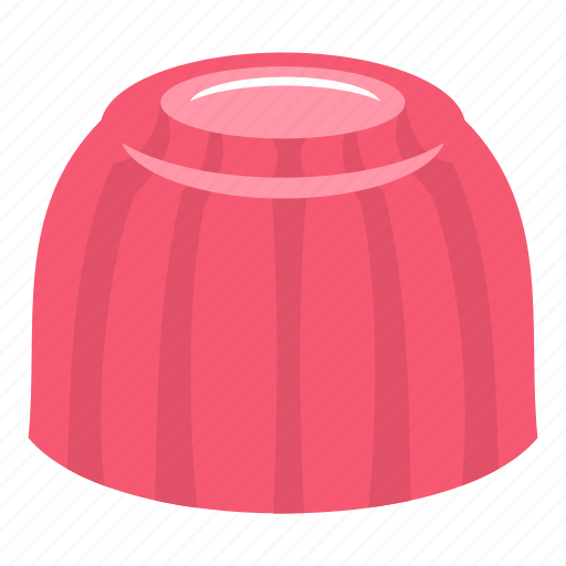 delicious, food, gelatin, jelly, pink, sweet, tasty icon
