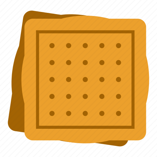 biscuit, cookie, dessert, food, snack, square, sweet icon