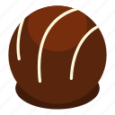 candy, chocolate, dark, dessert, food, praline, sweet icon