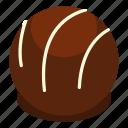 candy, chocolate, dark, dessert, food, praline, sweet