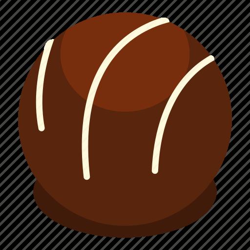 candy, chocolate, dark, dessert, food, praline, sweet icon