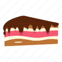 cake, chocolate, cream, dessert, food, piece, sweet icon