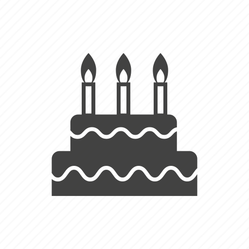 birthday cake, cake, confectionary, dessert, food, sweets icon