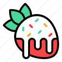 chocolate, dessert, strawberry, sugar, sweet, sweets icon