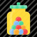 bubble gum, candy, jar, sugar, sweet, sweets
