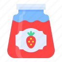 dessert, jam, strawberry, sugar, sweet, sweets