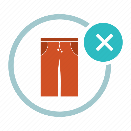 allowed, close, cloth, not, pants, swimming, trousers icon