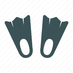 dive, fins, flipper, flippers, swim, training icon