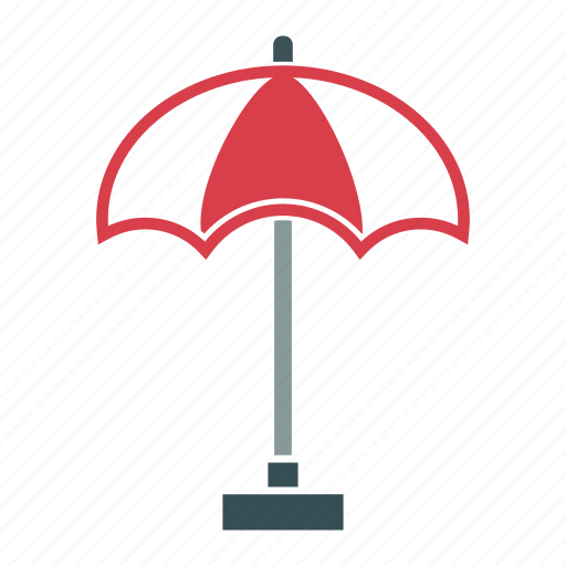 beach, swimming, umbrella, vacation, weather icon