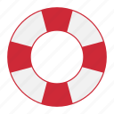 life, saver, float, safety, floating, buoy, swimming icon