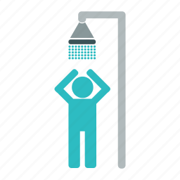 bathroom, boy, douche, man, shower, water icon