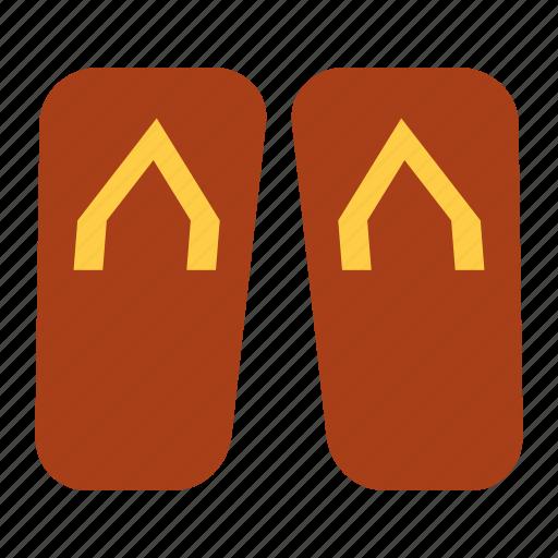 beach, flip-flops, footwear, shoes, slipper, swimming icon