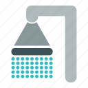 bathroom, shower, water icon