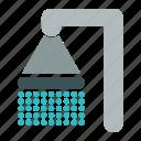 bathroom, shower, water