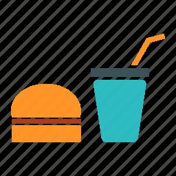 burger, fast food, juice, junk food, meal, restaurant icon
