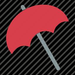 beach, swimming, umbrella, vacation, weather icon