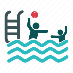 ball, beach, playing, pool, swimmers, swimming, swimming pool icon
