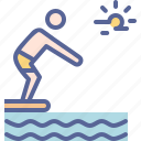 dive, diving, swim, swimming