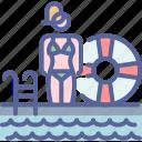 bikini, pool, swimming, vacation