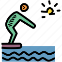 dive, diving, swim, swimming icon