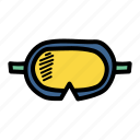 diving, goggles, marine, swimming icon