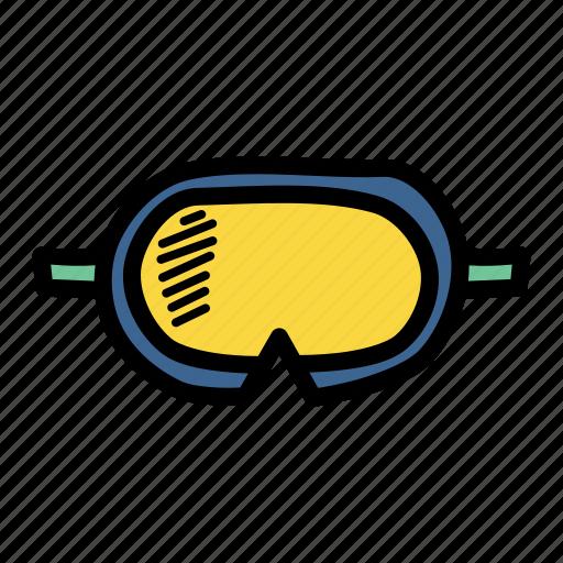 diving, goggles, marine, swimming icon