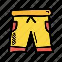 clothing, dress, shorts, summer icon