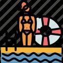 bikini, pool, swimming, vacation icon