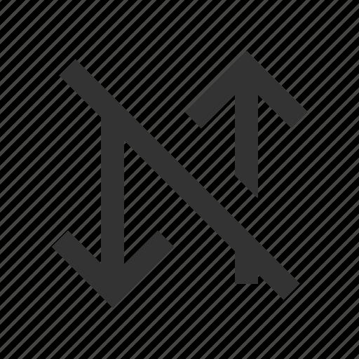 arrow, data, exchange, off icon