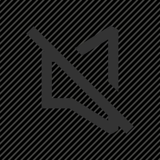 mute, off, silent, sound icon