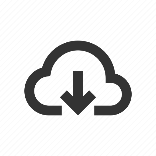 cloud, download, receive icon