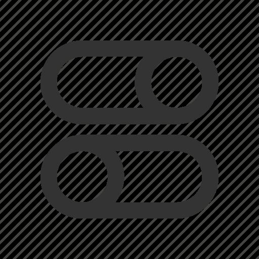control, preference, slider, toggle icon
