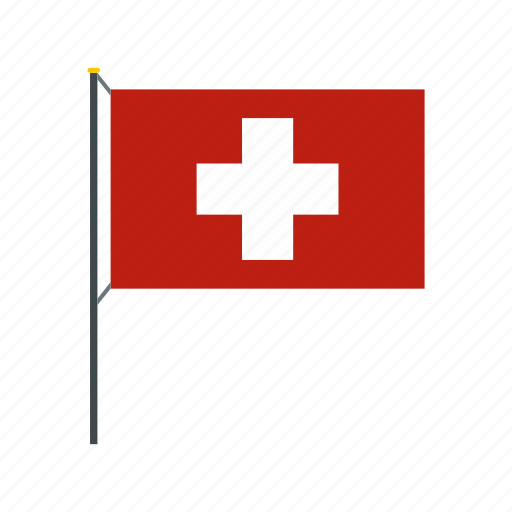 banner, country, flag, national, swiss, switzerland, travel icon