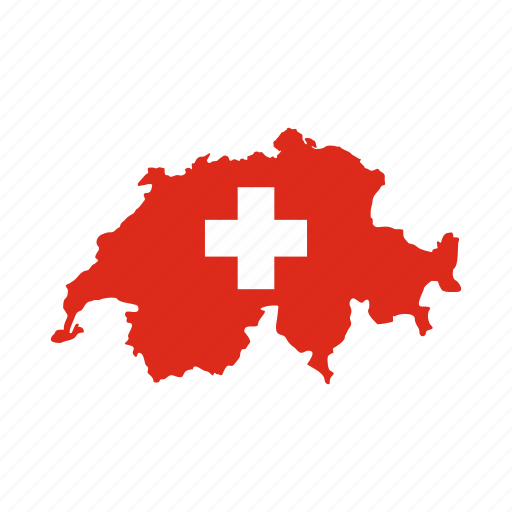 banner, country, map, national, swiss, switzerland, travel icon