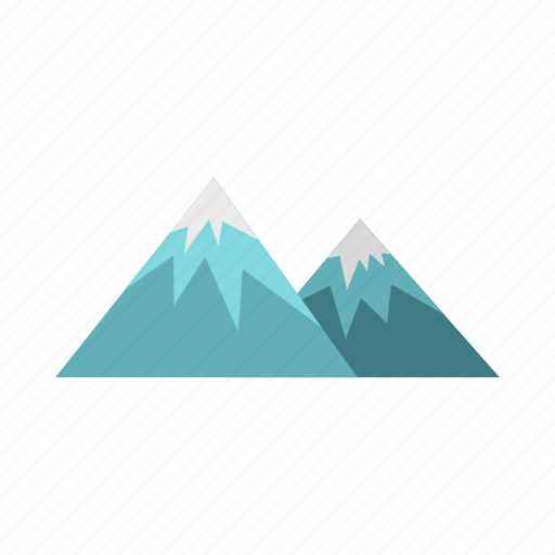 hill, landscape, mountains, nature, peak, rock, winter icon