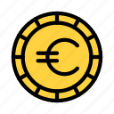euro, coin, currency, money, saving