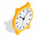 clock, isometric, luxury, minute, swiss, time, watch icon