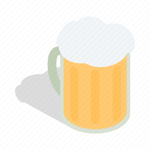 alcohol, beer, drink, froth, isometric, mug, swiss icon