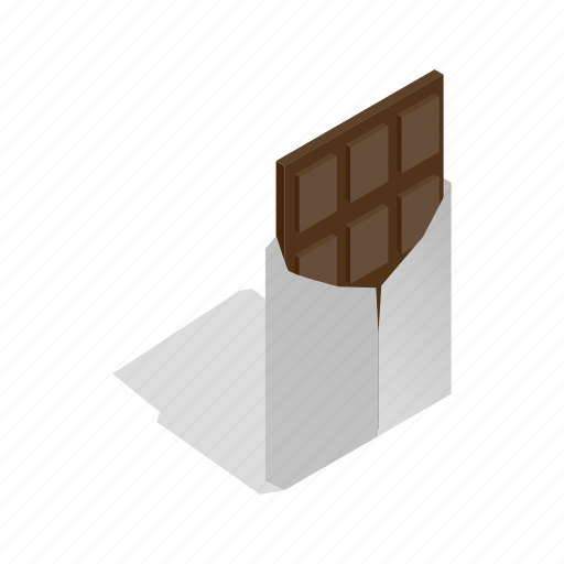 Brown, chocolate, delicious, food, isometric, sweet, swiss icon - Download on Iconfinder