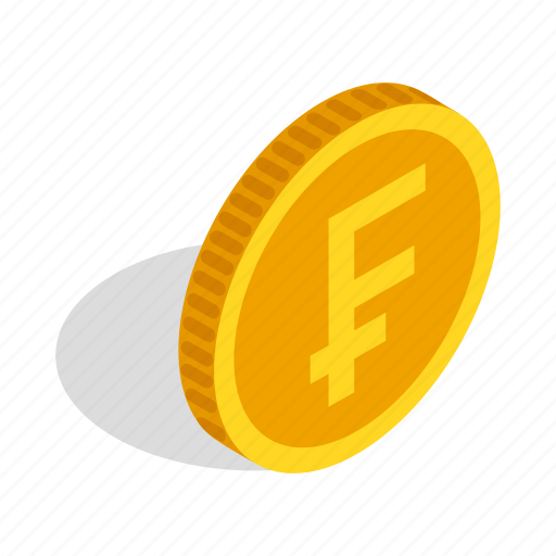 Coin, currency, finance, franc, gold, isometric, switzerland icon - Download on Iconfinder