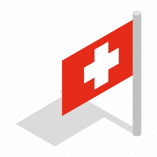 Country, flag, isometric, nation, national, swiss, switzerland icon - Download on Iconfinder