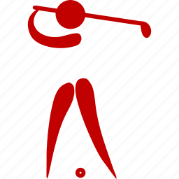 athlete, game, golf, sport icon