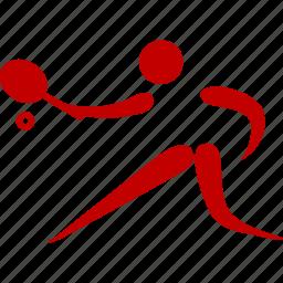 athlete, game, sport, tennis icon