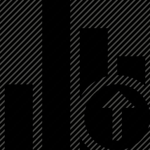 analytics, bar, chart, graph, report, statistics, upload icon