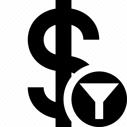 business, cash, currency, dollar, filter, finance, money icon