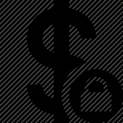 business, cash, currency, dollar, finance, lock, money icon